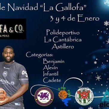 Torneo de Navidad 'La Gallofa' los días 3 y 4 de enero