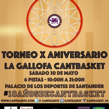 La Gallofa Cantbasket celebra su X Aniversario con un torneo en el Palacio