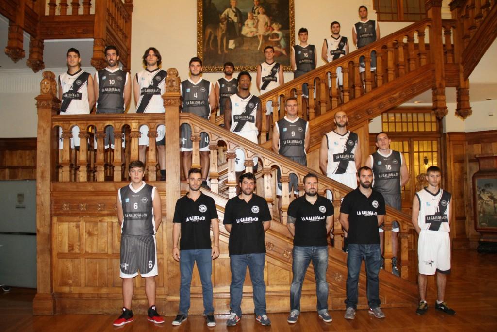 Jugadores y técnicos en el Hall Real del Palacio de La Magdalena | Foto: Pablo Lanza