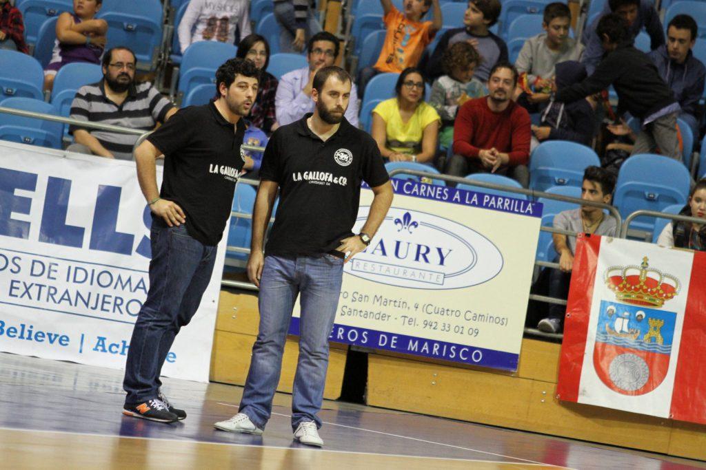Benjamín Santos junto con Gonzalo Rodríguez en en un encuentro de la pasada temporada