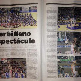 """La prensa de Cantabria destaca el """"espectáculo"""" ofrecido en el derbi"""