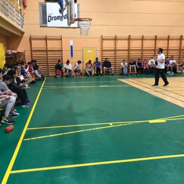 Sergio Espinosa y Joaquín Romano imparten clases en el curso de entrenadores de iniciación