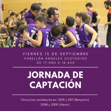 Jornada de captación el viernes 13 de septiembre en el Pabellón Ángeles Custodios