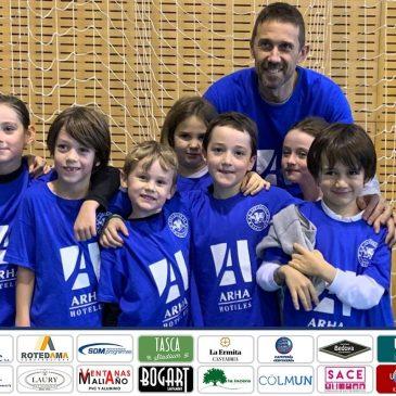 Los equipos de Baby-Basket de Arha Hoteles, anfitriones en el Marcelino Botín