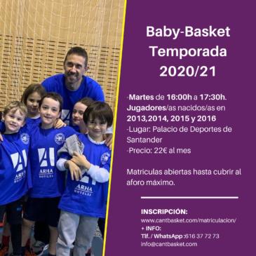 Abierto el plazo de inscripción de los equipos de BabyBasket 2020/21