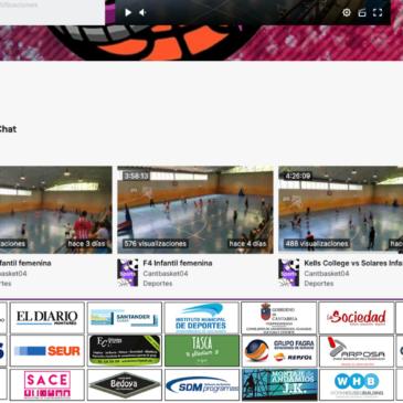 Los partidos de cantera de Cantbasket superan las 10.000 visualizaciones en Twitch