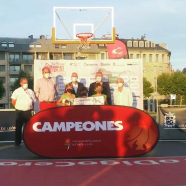 Álvaro de la Gandara, Manuel Delgado y Yago López-Vazquez, campeones del 3×3 de León